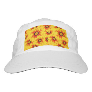 Summer colorful pattern yellow tickseed hat