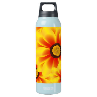 Summer colorful pattern yellow tickseed insulated water bottle