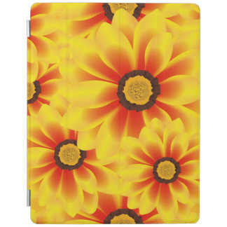 Summer colorful pattern yellow tickseed iPad cover