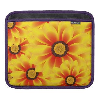Summer colorful pattern yellow tickseed iPad sleeve
