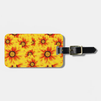 Summer colorful pattern yellow tickseed luggage tag