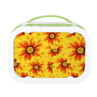Summer colorful pattern yellow tickseed lunch box
