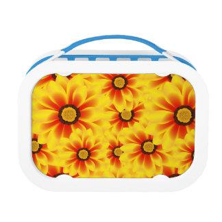 Summer colorful pattern yellow tickseed lunch boxes
