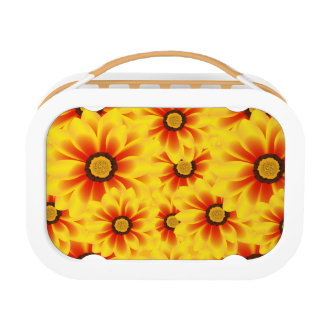 Summer colorful pattern yellow tickseed lunchboxes