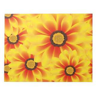 Summer colorful pattern yellow tickseed notepad