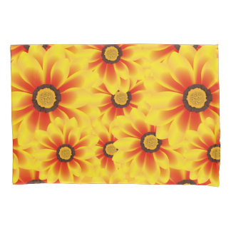 Summer colorful pattern yellow tickseed pillowcase