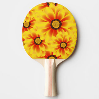 Summer colorful pattern yellow tickseed Ping-Pong paddle
