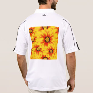 Summer colorful pattern yellow tickseed polo shirt