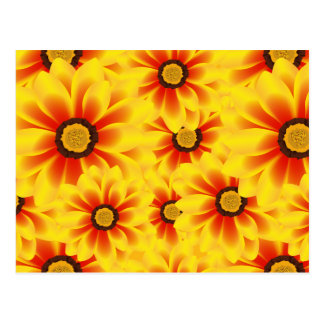 Summer colorful pattern yellow tickseed postcard