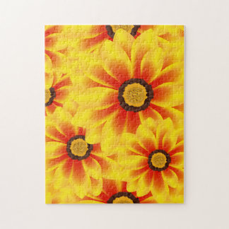 Summer colorful pattern yellow tickseed puzzle