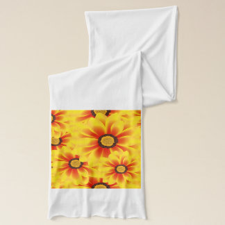 Summer colorful pattern yellow tickseed scarf