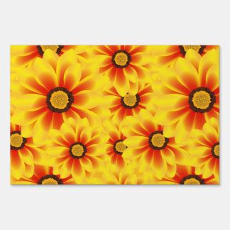 Summer colorful pattern yellow tickseed sign