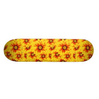 Summer colorful pattern yellow tickseed skate boards