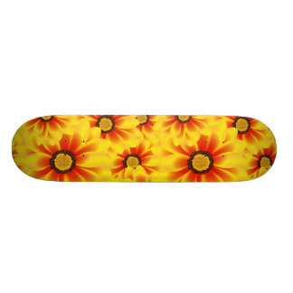 Summer colorful pattern yellow tickseed skateboards