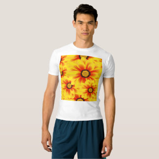Summer colorful pattern yellow tickseed t-shirt