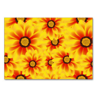 Summer colorful pattern yellow tickseed table card