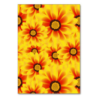 Summer colorful pattern yellow tickseed table cards