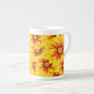 Summer colorful pattern yellow tickseed tea cup