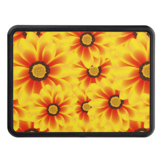 Summer colorful pattern yellow tickseed trailer hitch cover