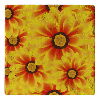 Summer colorful pattern yellow tickseed trivet