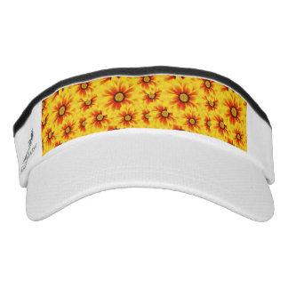 Summer colorful pattern yellow tickseed visor
