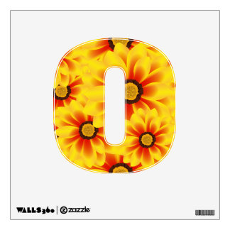 Summer colorful pattern yellow tickseed wall decal