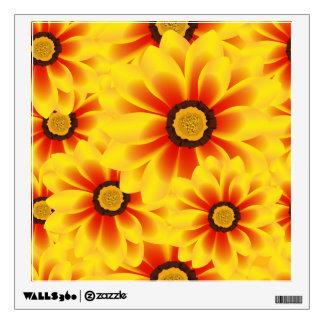 Summer colorful pattern yellow tickseed wall sticker