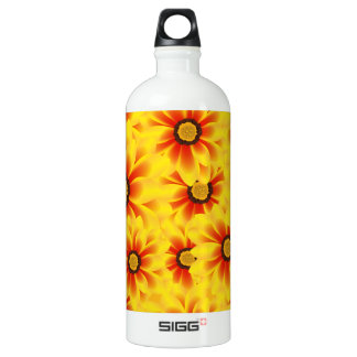 Summer colorful pattern yellow tickseed water bottle