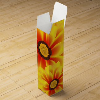 Summer colorful pattern yellow tickseed wine box