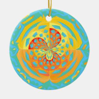 Summer colors ceramic ornament