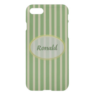 Summer Colors Green and Beige Stripes - Classic iPhone 8/7 Case
