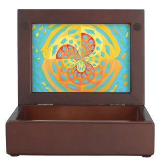 Summer colors memory boxes
