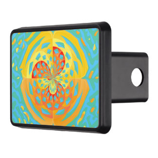 Summer colors trailer hitch cover