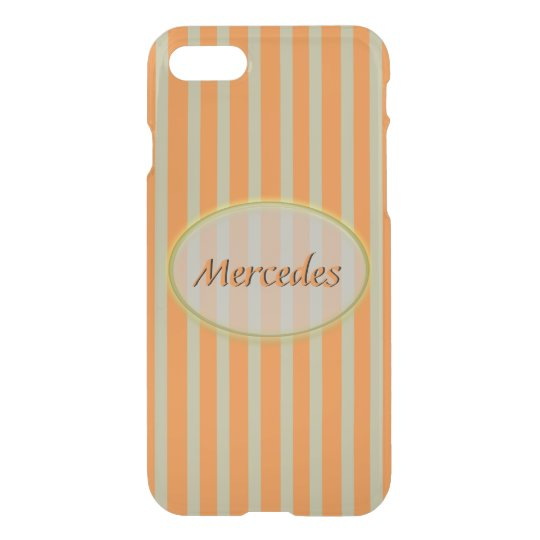 Summer Colours Orange and Beige Stripes - Classic iPhone 7 Case