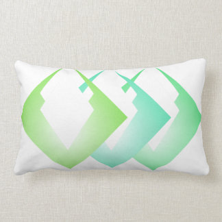 Summer Colours Travel Beach Decor Turquoise Lime Lumbar Pillow
