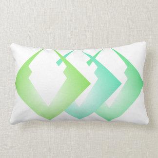 Summer Colours Travel Beach Decor Turquoise Lime Lumbar Pillow