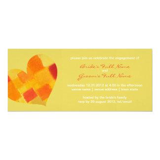"Summer confetti Engagement Invitation 4"" X 9.25"" Invitation Card"