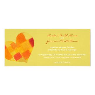 """Summer confetti Wedding Invitation 4"""" X 9.25"""" Invitation Card"""