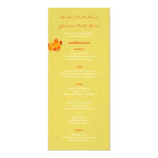 Summer confetti Wedding Menu 4x9.25 Paper Invitation Card
