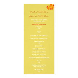 Summer confetti Wedding Program 4x9.25 Paper Invitation Card