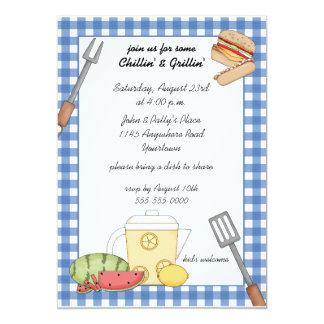 Summer Cookout Invitation