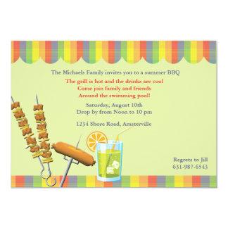 "Summer Cookout Invitation 5"" X 7"" Invitation Card"