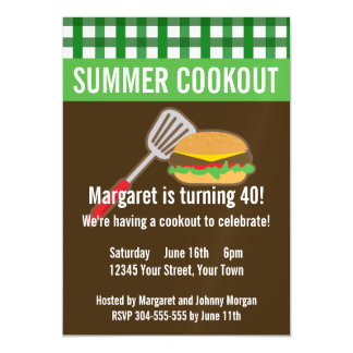 Summer Cookout Magnetic Card