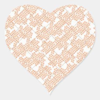 Summer Cottage Fleur Heart Sticker