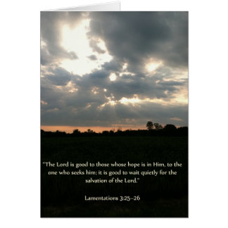 Summer Country Sky Sunset Religious Blank Card