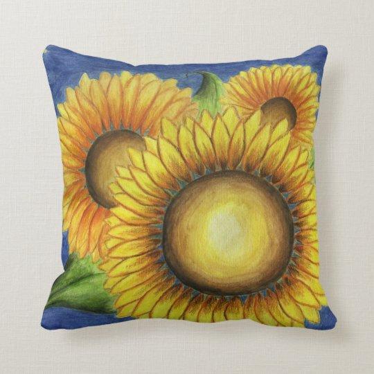 Summer Country Sunflower Throw Pillow Gift