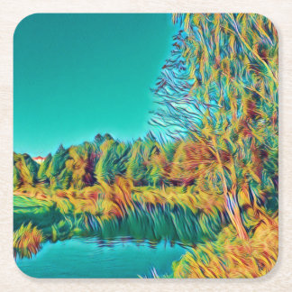 Summer Countryside Landscape Coaster