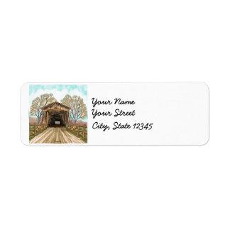 Summer Covered Bridge custom name labels
