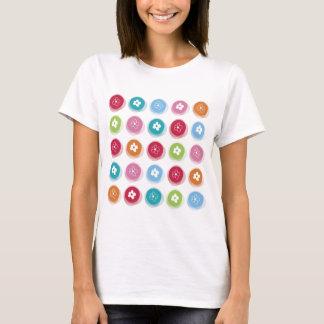 Summer Cute Daisy Flower Fuzzy Dots Colorful Fun T-Shirt