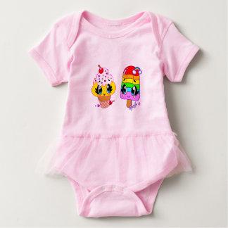 Summer Cute Treats Art Baby Bodysuit